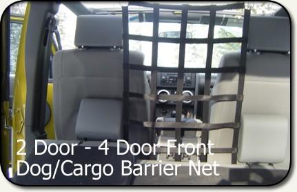 Aspen Mfg Jeep Jk Front Dog Cargo Barrier Net 2d 4d Fb
