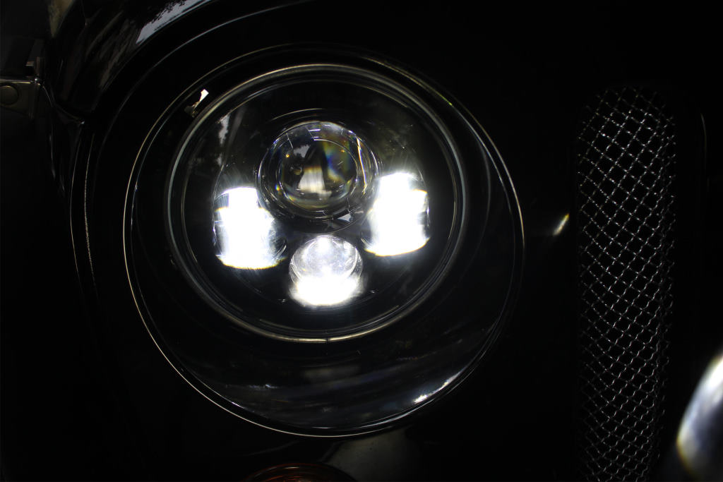 Lifetime Led 7in Round Led Headlight 4 Lens Jeep Jk