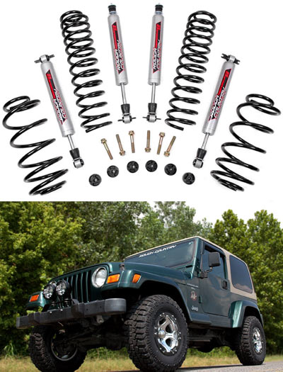 97 Jeep Wrangler Lift Kit Rough Country 2.5in Suspension Lift Kit - Jeep TJ Wrangler ...