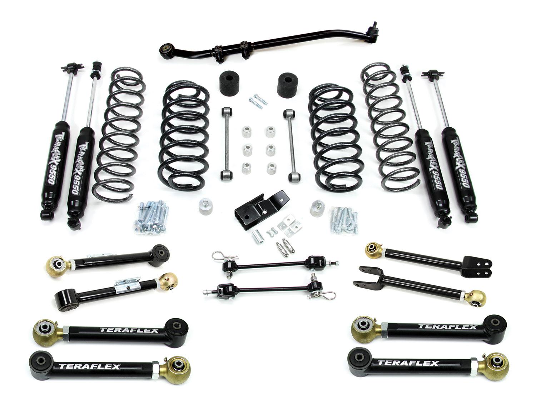 teraflex tj 3in lift kit with 8 flex arms  trackbar  and