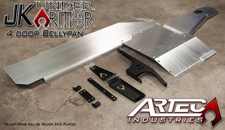 Artec Industries Jk Under Armor 4 Door Bellypan Kit 2012