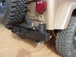 C4x4 Yj Tj Rear Bumper Tire Carrier Combo Tjyj Rbstc
