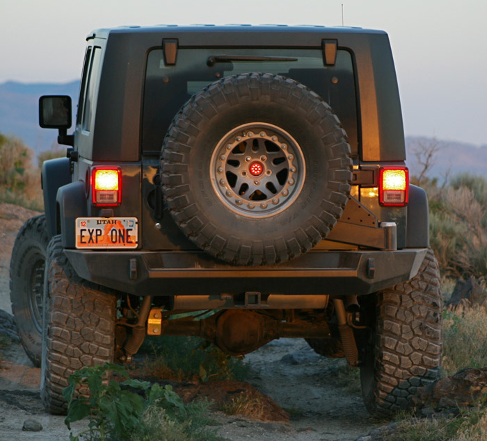 Rugged Ridge Jeep Bumpers >> Expedition One Jeep JK Trail Series Rear Bumper & Tire Carrier | JKRB100-STC | JeepinOutfitters