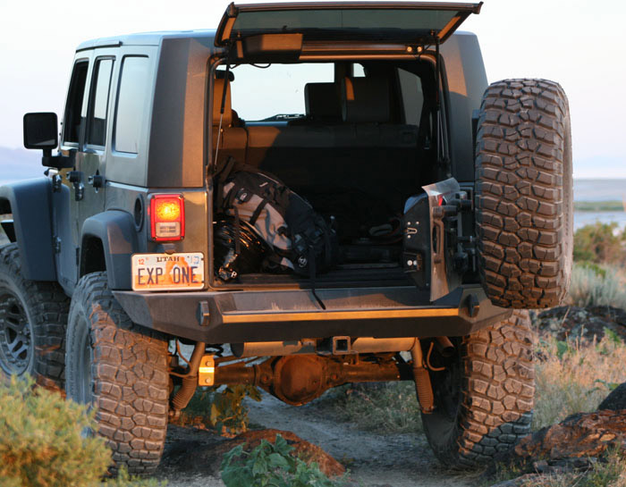 Expedition One Jeep JK Trail Series Rear Bumper  Tire Carrier