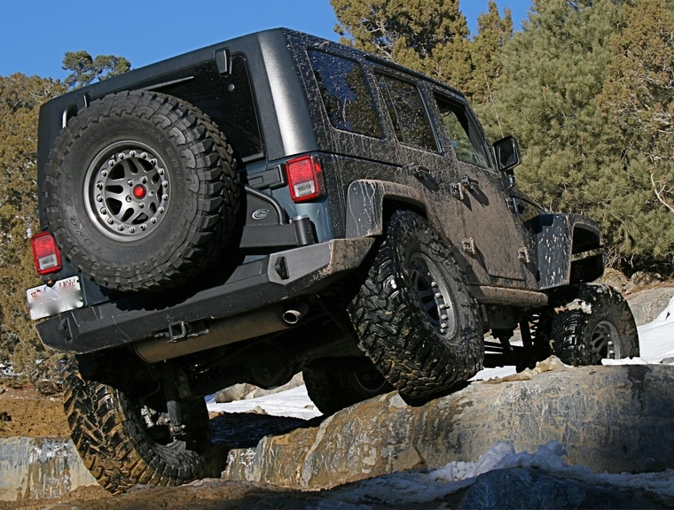 Expedition One Jeep Jk Trail Series Rear Bumper Amp Tire