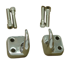 Rugged Ridge Front Tow Hooks, Chrome, 97-06 Jeep Wrangler (TJ)