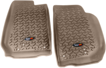 Rugged Ridge Floor Liners, Front, Tan, 07-14 Jeep Wrangler (JK)
