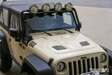 Rugged Ridge Performance Vented Hood, Jeep JK Wrangler/Unlimited