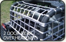 Aspen Mfg Rear Overhead Net, Jeep JK 2 DR