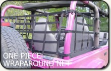 Aspen Mfg One Piece Wraparound Net, Jeep YJ/TJ