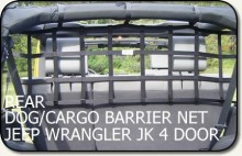 Aspen Mfg Dog/Cargo Barrier Net Jeep JK 4-dr