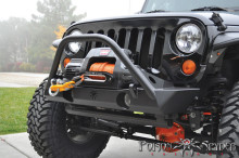 Poison Spyder Customs JK Brawler Lite Front Bumper with Brawler Bar