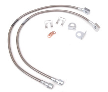 Rough Country Stainless Steel Front Brake Lines, YJ/TJ/XJ