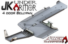 Artec Industries JK Under Armor 4 Door Bellypan Kit, 2012+