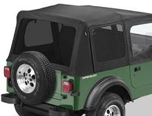Bestop Replace-a-Top Tinted Windows, Jeep 88-95 Wrangler YJ, Black Denim