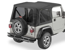 Bestop Replace-a-Top Tinted Window Kit, Jeep 03-06 Wrangler TJ, Black Diamond