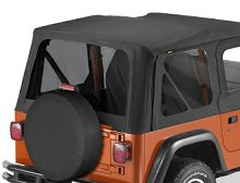 Bestop Replace-a-Top Tinted Window Kit, Jeep 97-02 Jeep Wrangler TJ, Black Denim