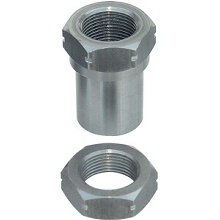 "Currie 1""-14 threaded bung w/jamnut, RH thread"