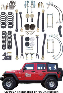 "Currie JK 4"" Suspension System w/Flex Arms"