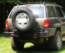 C4x4 WJ Grand Cherokee tire carrier