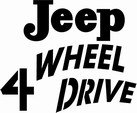 Jeep 4 Wheel Drive classic decal
