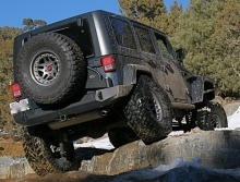 Expedition One Jeep JK Trail Series Rear Bumper & Tire Carrier