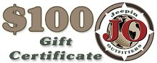 JeepinOutfitters.com Gift Certificate - $100