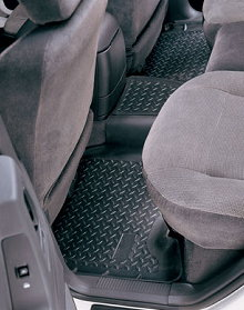 Husky Molded 2nd Seat Floor Liners for 06-09 Jeep Commander XK