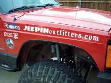 "JEEPINoutfitters.com logo decal - 32"", white"