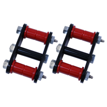 Rugged Ridge Heavy-duty Shackles, 55-75 CJ, Greasable Front Or Rear, WIth Red Bushings