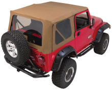 Rampage Soft Top Kit, 97-06 Jeep TJ w/Steel Doors, Black Diamond