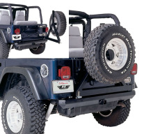 Rampage Rock Rage Rear Bumper/Tire Carrier, TJ/YJ