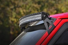 Rough Country Jeep 50-inch Curved LED Light Bar Upper Windshield Mounts