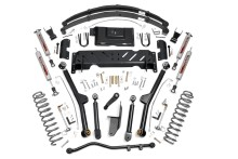 "Rough Country Jeep XJ 4.5"" X-series Long Arm Suspension Lift Kit, leafs, NP242"