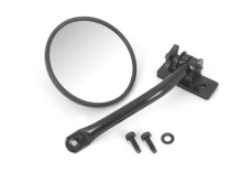 Rugged Ridge Mirror Relocation, Black, Includes Mirror, Jeep Wrangler (TJ) 97-06, (JK) 07-11, LH or RH Does One Side