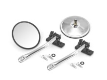 Rugged Ridge Mirror Relocation Kit, Pair,Stainless Steel, Includes Mirror, Jeep Wrangler (TJ) 97-06, (JK) 07-11, Does Both Sides