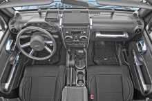 Rugged Ridge Interior Trim Accent Kit, Chrome, Jeep Wrangler (JK) 07-10 2-Door With Manual Transmission