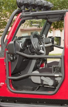 Rugged Ridge Tube Doors Front, Black Textured, Pair, Jeep Wrangler (JK) 07-11 2-Door or 4-Door