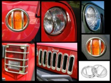 Rugged Ridge Euro Guard Light Kit, Stainless Steel, 21 Piece, Jeep Wrangler (JK) 2007-2011