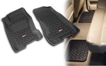 Rugged Ridge All Terrain Floor Liner Kit, Four Piece, Black , Jeep Grand Cherokee (WJ) 99-04, Includes first and second row liners