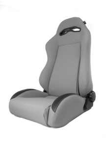 Rugged Ridge Front Seat, XHD Sierra Seat With Recliner, Gray, Jeep Cherokee (XJ) 84-01