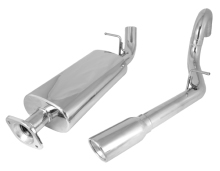 Rugged Ridge Cat Back Exhaust Kit, Stainless Steel, Single RH Outlet, Jeep Wrangler Unlimited (LJ) 04-06 With 4.0L