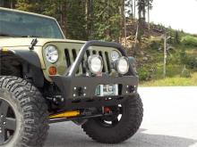 TNT Customs Midwidth Aluminum Front Bumper, Jeep JK