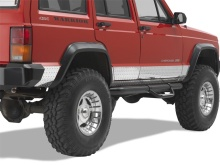 Warrior Products Sideplates, 4dr XJ, Diamond Plate