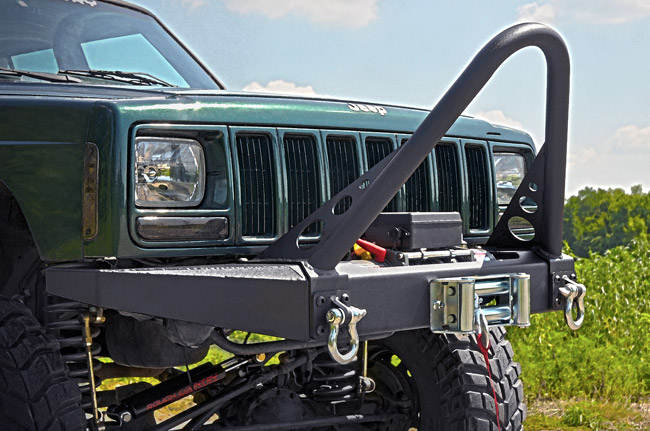 Rough Country Jeep XJ Cherokee Winch Bumper | 1057 | JeepinOutfitters