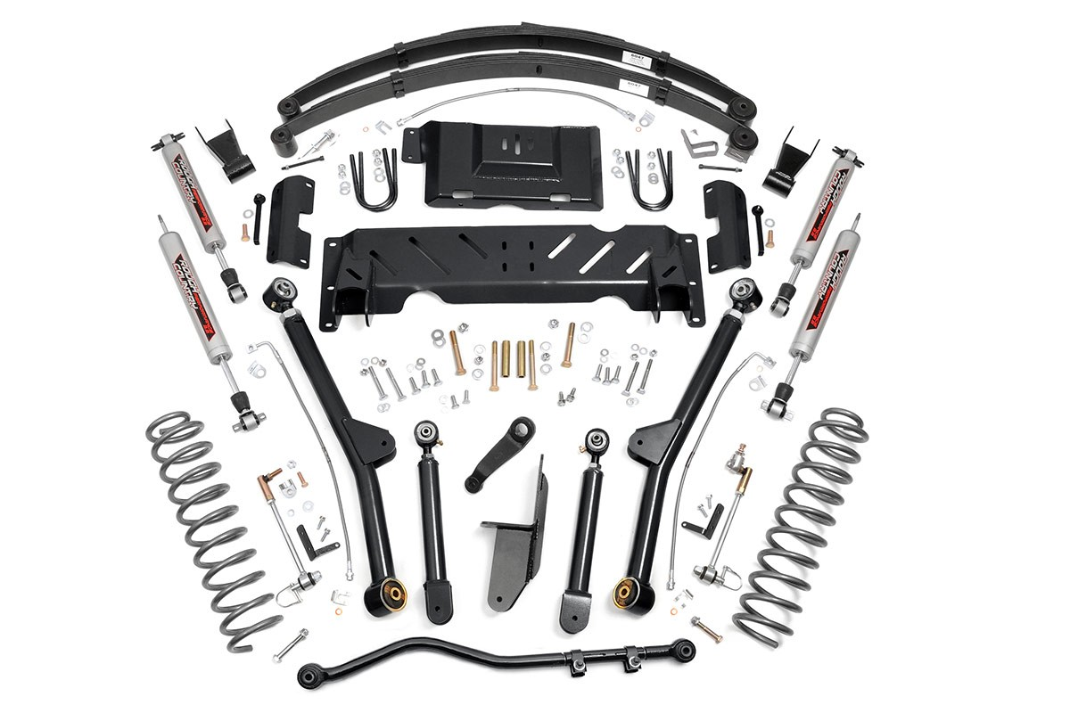 Rough Country Jeep Xj 6 5 X Series Long Arm Suspension Lift Kit Leafs Np242