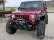 Poison Spyder Customs JK Brawler Lite Front Bumper with Brawler Bar and tube gussets