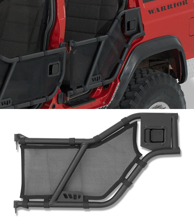 Warrior Products Tube Doors Rear Xj Cherokee 90784