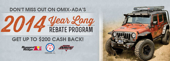 Omix-ADA 2014 Year Long Rebate Program