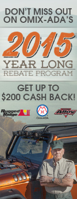 Omix-Ada 2015 Year Long Rebate Program